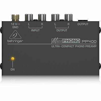 Behringer PP400 Microphono Ultra Compact Phono Preamp Assorted Colour • 23.64£