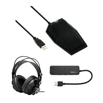 MXL AC404 USB Conference Microphone With Headphones And Knox 4 Port 3.0 USB Hub • 61.85£