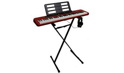 Casio CT-S200RD Keyboard, Stand & Headphone Bundle - Red 7449839 • 134.99£