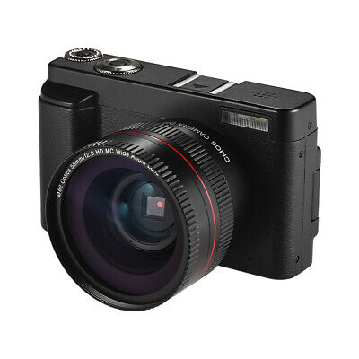 Wifi Full HD 1080P 24MP 16X Zoom Digital Camera + Wide Angle Lens 2-Battery H5U9 • 74.17£