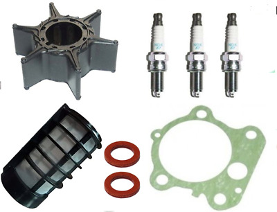 Impeller Gasket Plugs Filter SERVICE PARTS KIT 75HP 90HP YAMAHA 2Stroke Outboard • 39.99£