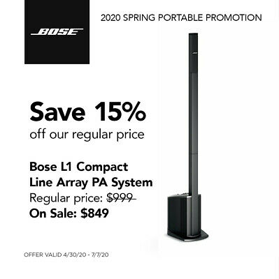 SPECIAL: Bose L1® Compact Portable Line Array Speaker System • 670.56£