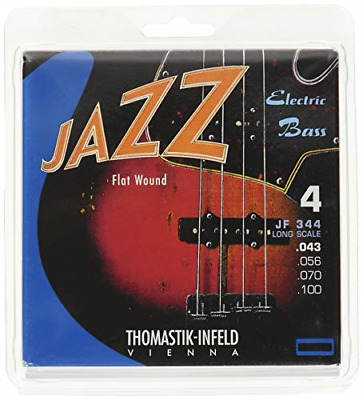 Thomastik Strings For Electric Bass Jazz Bass Flat Wound Set JF344 4-String Long • 71.98£