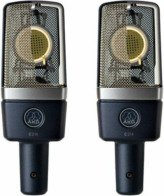 NEW AKG C214 Condenser Microphone, Set Of 2, Ship By DHL Int Exp • 679.28£