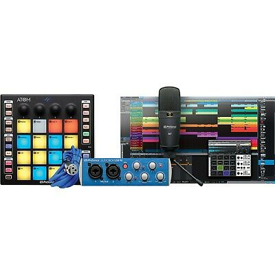 PreSonus ATOM Producer Lab Complete Production Kit W/ Controller, Mic, Interface • 237.76£
