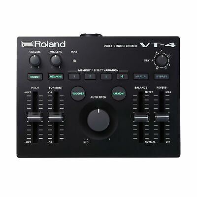 Roland VT 4 Vocal Transformer Voice Effects Processor Delay Reverb Black New • 208.11£