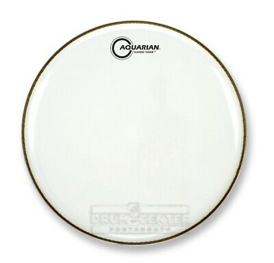 Aquarian Snare/Tom Heads : Classic Clear Drumhead 13 White - CC13WH