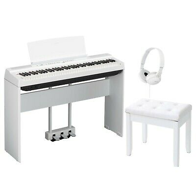 Yamaha P121WH 73-Key Weighted Action Digital Piano White W/ Bench & Stand • 621.59£