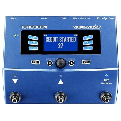 TC Helicon Voice Live Play -  Vocal Processor - Reverb FX Auto Tune Harmony Unit • 265.57£