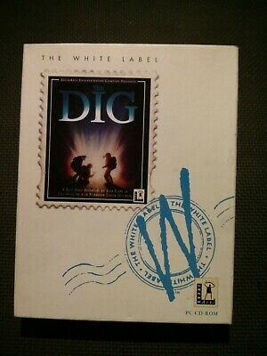 The Dig, BIG BOX. Lucas Arts. White Label,1995, MS-DOS, PC CD Game • 5£