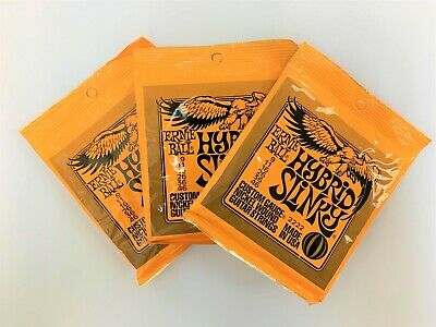 3 Sets Of Ernie Ball 2222 Nickel Hybrid Slinky Electric Guitar Strings 9-46 • 15.99£