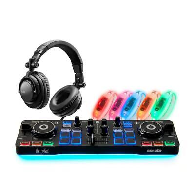 Hercules DJ Party Set W/ Starlight Serato DJ Controller, Headphones, And Lights • 94.06£