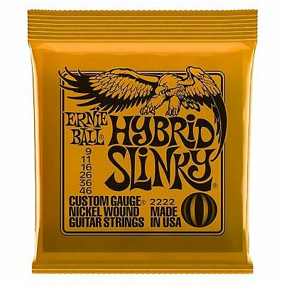 Ernie Ball 2222 Hybrid Slinky Nickel Electric Guitar Strings 9-46 FREE-SHIPPING • 5.49£