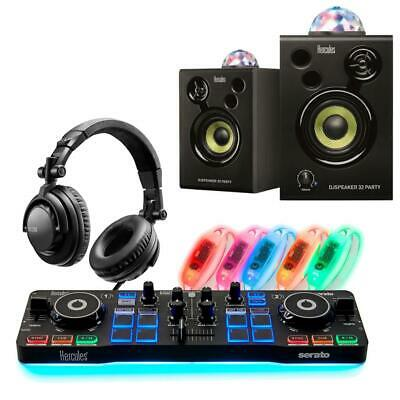 Hercules DJ Party Set W/ Starlight Serato DJ Controller, Headphones, & Speakers • 180.89£