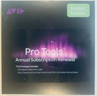 AVID Pro Tools Annual Subscription Renewal Activation Card  STUDENT TEACHER • 73.20£