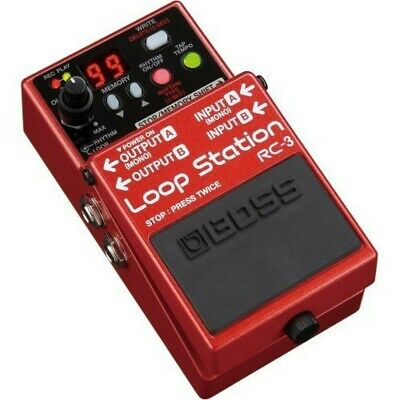 BOSS Audio Loop Station Pedal RC-3 Guitar Effects Red USB Connection Stereo • 173.42£