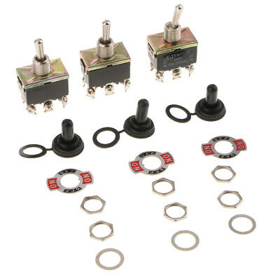 Toggle Switch, Rocker Switch E-TEN1322 15A 250V 6Terminals/3Position/Single Pole • 5.50£