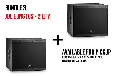 JBL EON618S 18  Self-Powered Subwoofer With Cover • 777.23£