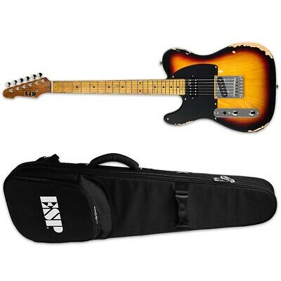 ESP LTD TE-254 LH Distressed 3-Tone Burst D3TB Left-Handed Guitar + ESP Gig Bag • 381.09£