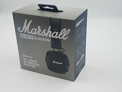 Marshall Major Iii Bluetooth Headphones - Black *free Postage* • 84.99£