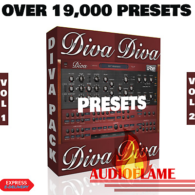 U-HE Diva Synth 19,000+ Presets Ableton Live Bitwig Logic FL Studio One Vol 1+2 • 5.50£