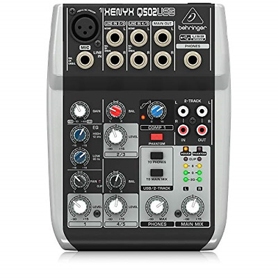 Premium 5 Input 2 Bus Mixer With XENYX Mic Preamp/Compressor/British EQ And • 75.29£