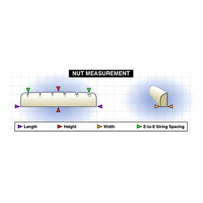 Graph Tech Tusq Nut For Acoustics - Slotted - Martin Style (PQ-M600-00) • 9.99£