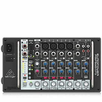 Behringer Powered Mixer 500W 8ch Reverb MP3 Player PMP500MP3 • 305.53£
