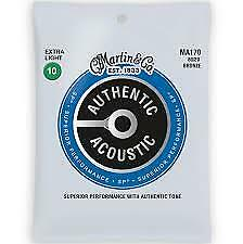 Martin Authentic Acoustic Sp Ma170 Extra Light Guitar Strings 10-47