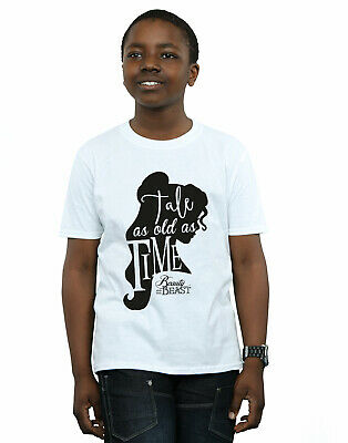 Disney Boys Tale As Old As Time T-Shirt White 12-13 Years • 12.99£