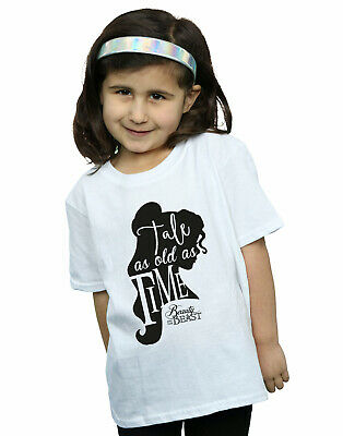 Disney Girls Tale As Old As Time T-Shirt White 12-13 Years • 12.99£