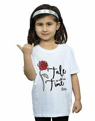 Disney Girls Tale As Old As Time Rose T-Shirt White 12-13 Years • 12.99£