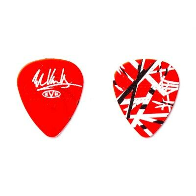 Eddie Van Halen EVH Frankenstrat Red/White/Black Striped Signature Guitar Pick • 4.21£