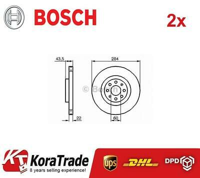 2x BOSCH 0986479B90 FRONT OE QUALITY BRAKE DISC SET • 128£