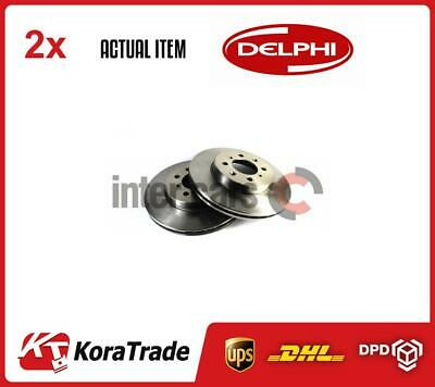 2 X DELPHI BRAKE DISC SET BG2759 • 105£