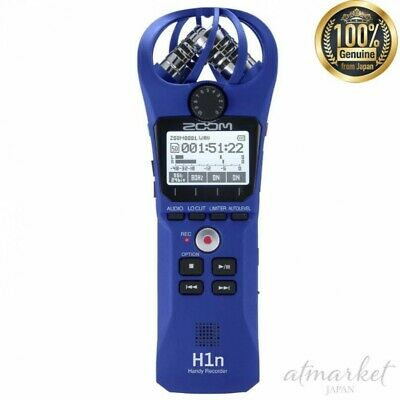 ZOOM Handy Recorder H1n/L Blue Quantity Limited Color From JAPAN NEW • 111.48£