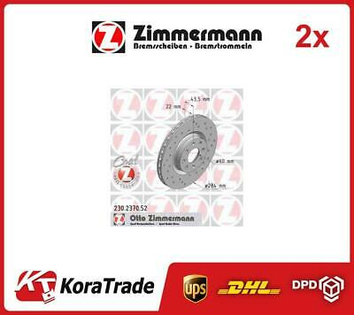 2x 230237052 ZIMMERMANN OE QUALITY BRAKE DISC SET • 164£