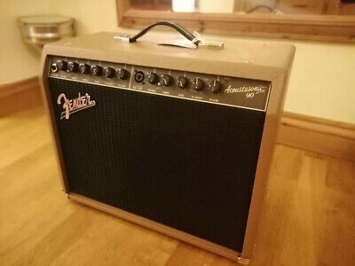 Fender Acoustasonic 90 2-Channel 90-Watt Acoustic Guitar And Vocal Combo Amp • 150£