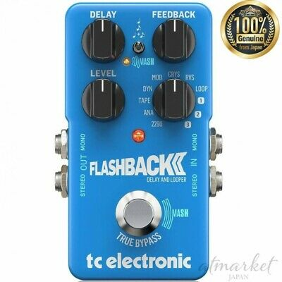 TC Electronic Delay FLASHBACK 2 Delay LOOPER 9608233001 Guitar Effect Blue • 134.22£