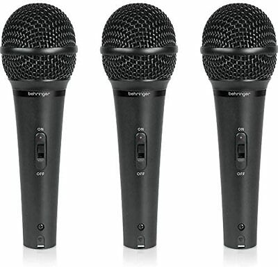 Behringer Dynamic Microphone Vocal Set Of 3 ULTRAVOICE XM1800S • 80.64£