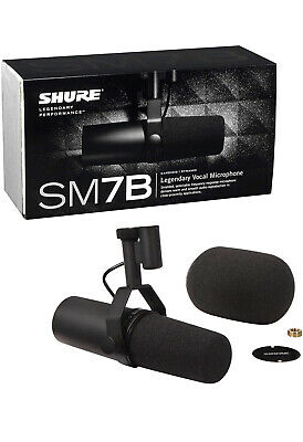 Shure SM7B Cardioid Dynamic Microphone For Broadcast, Podcast, Recording Smooth • 359.98£