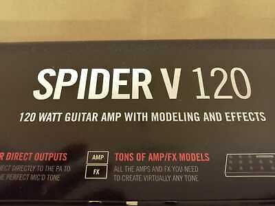 Line 6 Spider V120 Guitar Amp (MK1) with Accessories