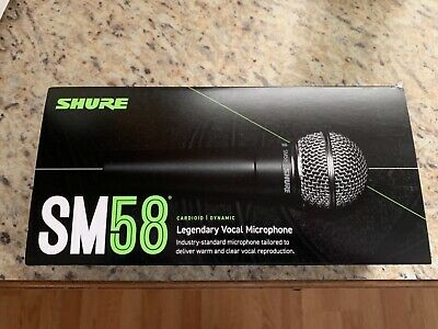 Shure SM58 Vocal Microphone With Clip And Carry Pouch New In Box • 72.34£