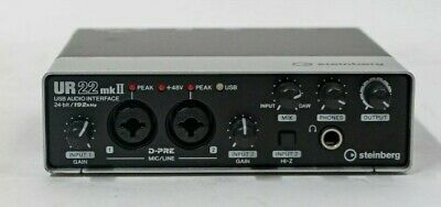 Steinberg UR22 MkII 2 Ch USB Audio Recording Interface, Pre-owned (PC & MAC) • 66.90£