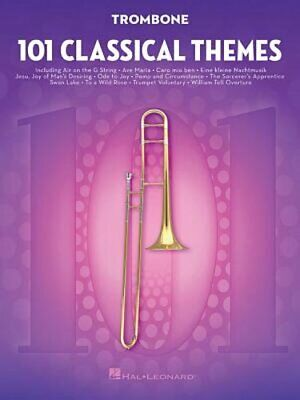 101 Classical Themes For Trombone By Hal Leonard Corp: New • 9.70£