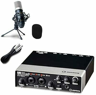Steinberg UR22mkII Audio Interface UR22Mk2 High Quality Delivery Recording Set • 301.09£