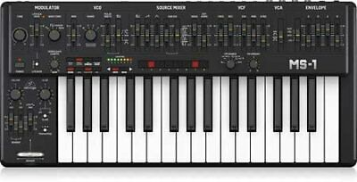 Behringer Analog Monophonic Synthesizer With Live Performance Kit MS-1-BK • 625.12£