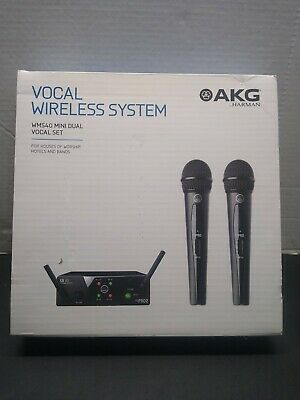 AKG WMS40 Mini Dual Vocal Set Wireless Handheld Microphone System (Band A/C) • 132.35£