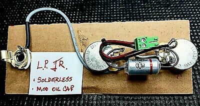 Solderless Gibson Les Paul Junior Wiring Harness 50's wiring with oil cap!