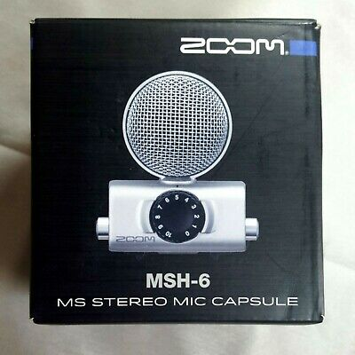 Zoom MSH-6 Mid-Side Microphone Capsule for Zoom H5 H6 Field Recorders Open Box